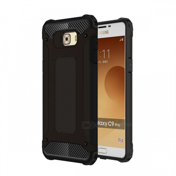 Dayspirit TPU PC Dual Layer Case for Samsung Galaxy C9 Pro - BlackTPU Cases<br>Form  ColorBlackish GoldenModelN/AMaterialOthers,PC + TPUQuantity1 pieceShade Of ColorBlackCompatible ModelsSamsung Galaxy C9 ProPacking List1 x Case<br>