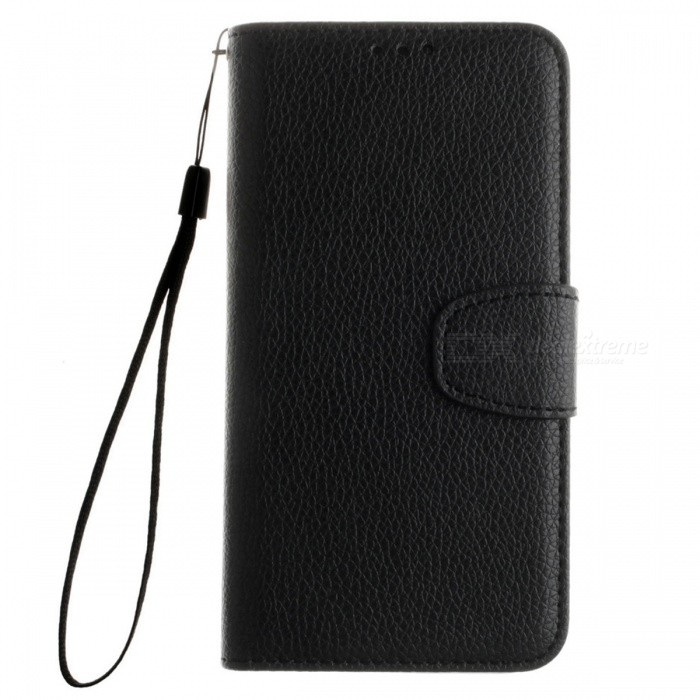 Dayspirit Lichee Pattern Leather Case for Huawei Y6 - BlackLeather Cases<br>Form  ColorBlackModelN/AMaterialPU leatherQuantity1 DX.PCM.Model.AttributeModel.UnitShade Of ColorBlackCompatible ModelsHuawei Y6FeaturesAnti-slip,Dust-proof,Abrasion resistance,Holder functionPacking List1 x Case1 x Lanyard<br>