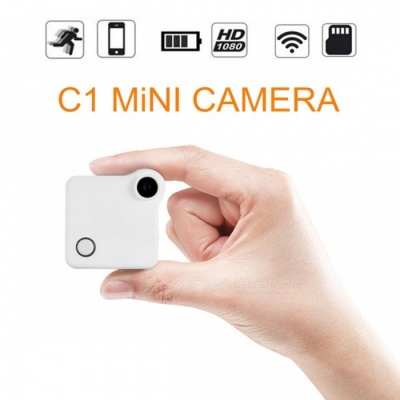 Mini HD Wi-Fi Wireless IP Camera Baby Monitor with 32GB Memory - White