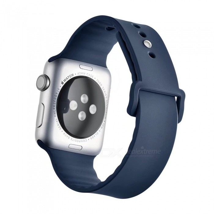Miimall Soft Silicone Watch Strap for Apple Watch 38mm - Dark BlueWearable Device Accessories<br>Form  ColorNavyQuantity1 DX.PCM.Model.AttributeModel.UnitMaterialSiliconePacking List1 x Soft silicone Watch Band for Apple Watch 38mm<br>