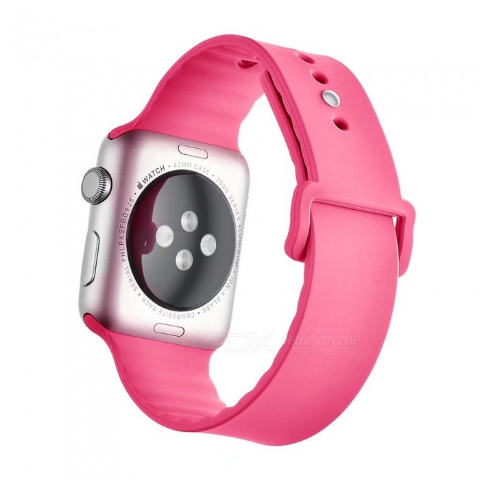Miimall Soft Silicone Watch Strap for Apple Watch 42mm - PinkWearable Device Accessories<br>Form  ColorPinkQuantity1 DX.PCM.Model.AttributeModel.UnitMaterialSoft SiliconePacking List1 x Soft Silicone Strap for iWatch 42mm<br>