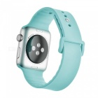 Miimall Soft Silicone Watch Strap for Apple Watch 42mm - Light Blue