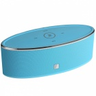 Portable HD Bass Sound Full Touch Bluetooth Speaker with Light - Blue