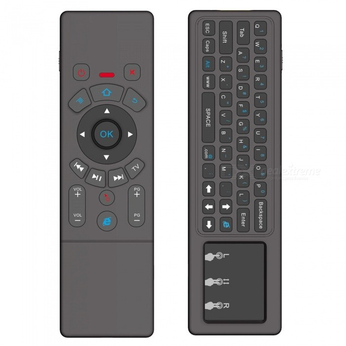 2.4GHz Wireless Remote Control with Keyboard, Touchpad MouseWireless Keyboards<br>Form  ColorBlack + MulticolorMaterialABSQuantity1 setInterfaceUSB 2.0Wireless or Wired2.4G WirelessBluetooth VersionNoCompatible BrandAPPLE,Dell,HP,Toshiba,Acer,Lenovo,Samsung,MSI,Sony,IBM,Asus,Thinkpad,Huawei,GoogleTracking MethodTouch PadBack-litNoOperation Distance10 mPowered ByBuilt-in BatteryBattery included or notNoCharging Time3-4 hoursWaterproofNoSupports SystemOthers,Android, Windows, Mac OS, LiluxPacking List1 x Mini Keyboard1 x USB Wireless Receiver1 x USB Charging Cable1 x User Manual<br>