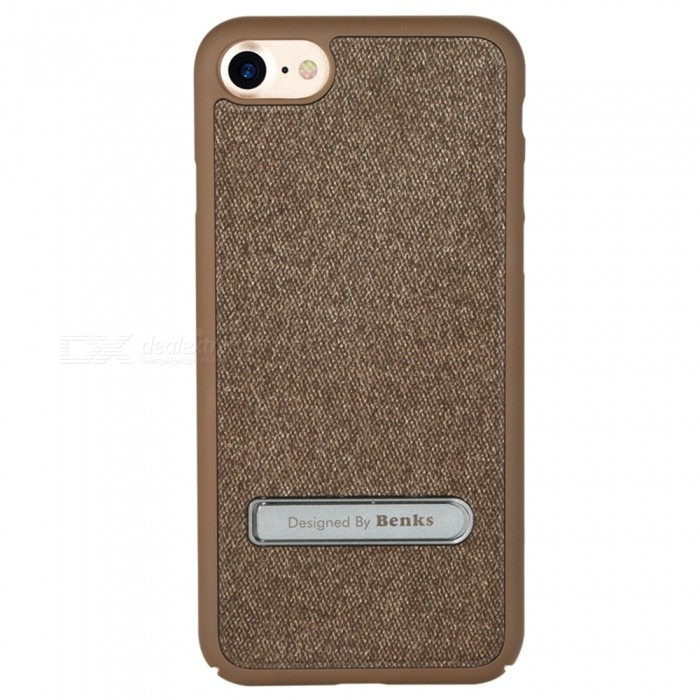Benks Brownie PC + Denim Cloth Case with Holder for IPHONE 7 - BrownPlastic Cases<br>Form  ColorDark BrownModelBrownieQuantity1 DX.PCM.Model.AttributeModel.UnitMaterialPCCompatible ModelsiPhone 7DesignWith Stand,Others,with Denim ClothStyleBack CasesCertificationRoHSPacking List1 x Protective Case<br>
