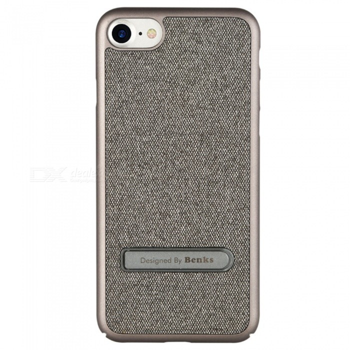 Benks Brownie PC + Denim Cloth Case with Holder for IPHONE 7 - GreyPlastic Cases<br>Form  ColorGreyModelBrownieQuantity1 DX.PCM.Model.AttributeModel.UnitMaterialPCCompatible ModelsiPhone 7DesignWith Stand,Others,with Denim ClothStyleBack CasesCertificationRoHSPacking List1 x Protective Case<br>