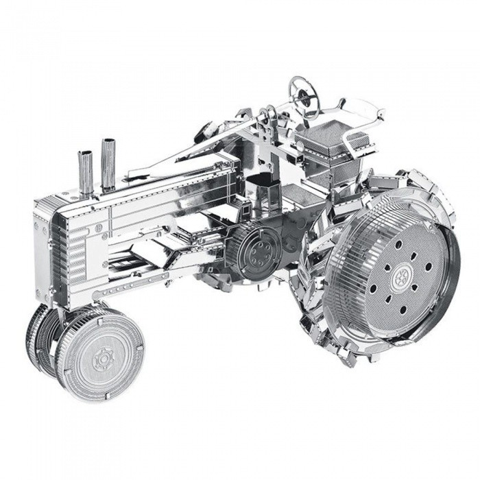 Maikou Creative 3D Mini Tractor Model Jigsaw Puzzles - Silver GreyBlocks &amp; Jigsaw Toys<br>Form  ColorShimmer Silvery greyMaterialStainless SteelQuantity1 pieceNumber3Size7.3*4.5*4.2cmSuitable Age 12-15 years,Grown upsPacking List2 x Metal Plate1 x Graphic Illustration<br>