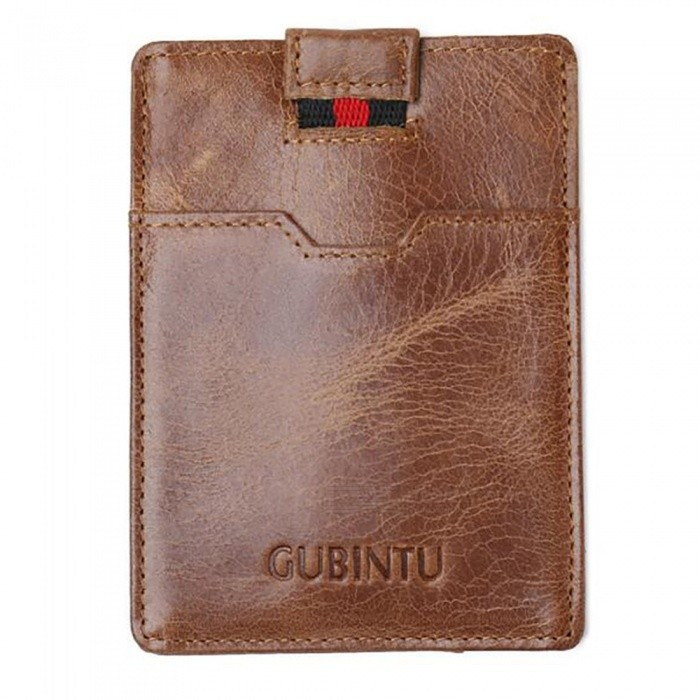 GUBINTU Mens PU Leather Wallet, Hasp Cards Holder - CoffeeWallets and Purses<br>Form  ColorCoffeeModel418#Quantity1 pieceShade Of ColorBrownMaterialLeatherGenderMenSuitable forAdultsOpeningHaspStyleFashionWallet Dimensions11.5*8.5*0.3Other Features2 card slots,1 cash pockets,1 pull-out tapePacking List1 x Wallet<br>