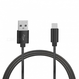 Stainless Steel Spring Type-C Fast Charging Data Cable for Oneplus 5