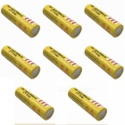 ZHAOYAO 8Pcs 3.7V 18650 5000mAh Rechargeable Lithium Battery - Yellow