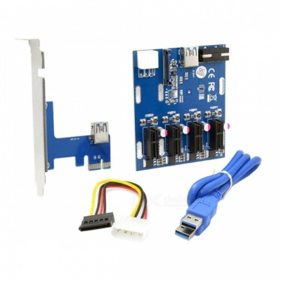 CY EP-105 PCI-e Express 1x naar 4 poort 1x switch multiplier adapter