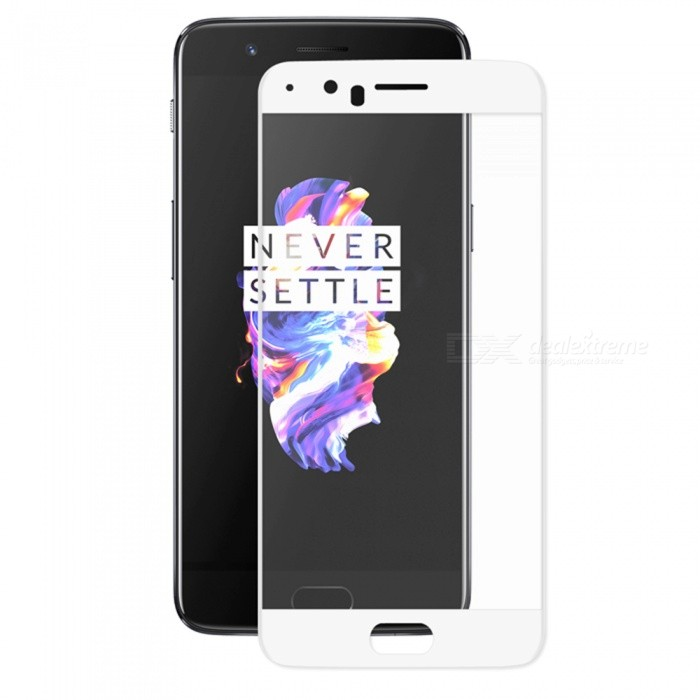 Hat-Prince 0.2mm 3D Full Cover Screen Protector for OnePlus 5 - WhiteScreen Protectors<br>Form  ColorWhiteScreen TypeGlossyModel-MaterialCarbon Fiber + Tempered GlassQuantity1 DX.PCM.Model.AttributeModel.UnitCompatible ModelsOnePlus 5Features3D,HD,Tempered glassPacking List1 x Screen protector1 x Dust Sticker1 x Cleaning Cloth1 x Alcohol Prep Pad<br>
