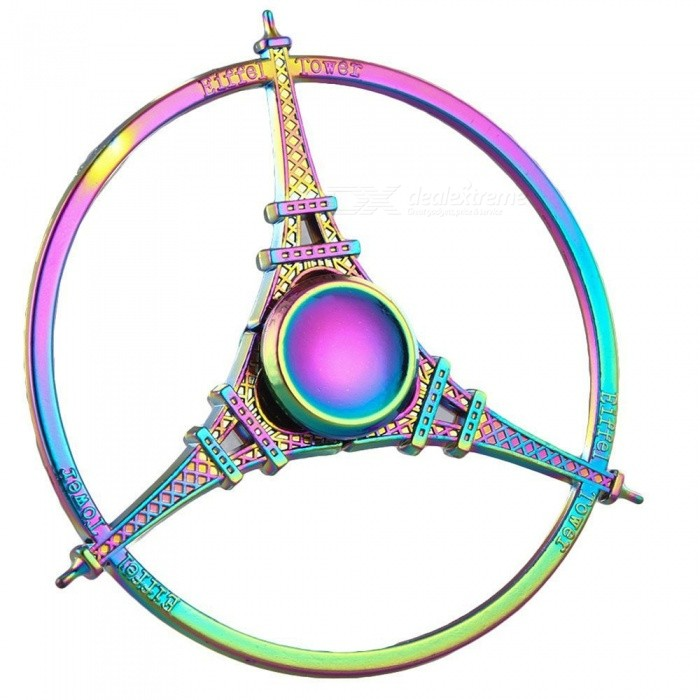 Eiffel Tower Fidget Hand Spinner Stress Relief Toy - ColorfulFinger Toys<br>Form  ColorColorfulMaterialMetalQuantity1 pieceSuitable Age 12-15 years,Grown upsPacking List1 x Spinner<br>