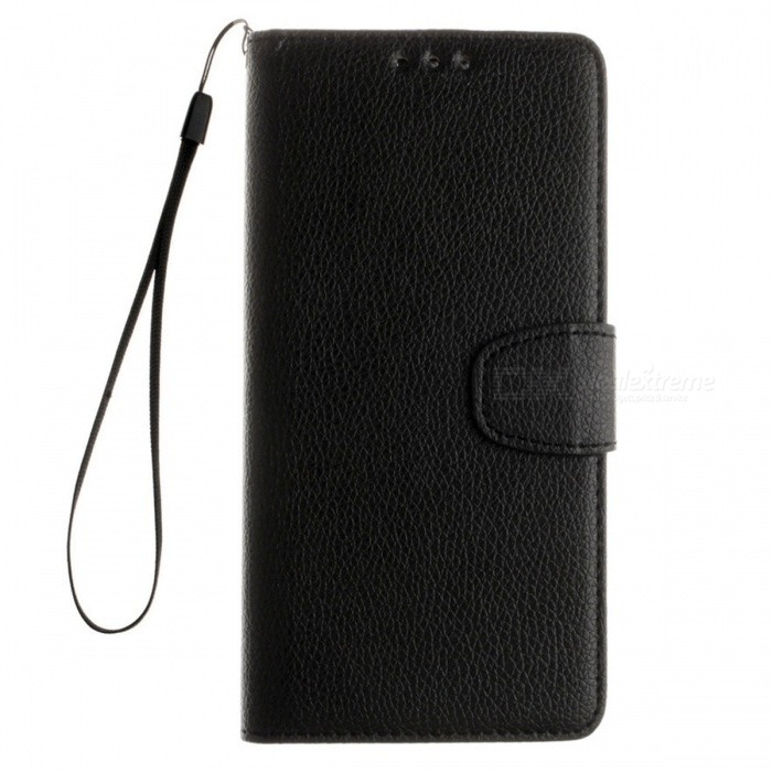 Dayspirit Lichee Pattern Leather Case for Moto G5 - BlackLeather Cases<br>Form  ColorBlackModelN/AMaterialPU leatherQuantity1 DX.PCM.Model.AttributeModel.UnitShade Of ColorBlackCompatible ModelsMoto G5FeaturesAnti-slip,Dust-proof,Abrasion resistance,Holder functionPacking List1 x Case1 x Lanyard<br>