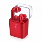 Eastor Fun7 Invisible True Wireless Bluetooth Earphone with Mic - Red