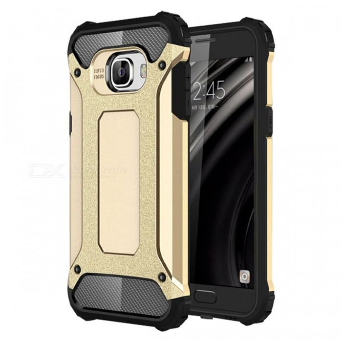 Dayspirit TPU PC Dual Layer Case for Samsung Galaxy C5 - GoldenTPU Cases<br>Form  ColorGoldenModelN/AMaterialOthers,PC + TPUQuantity1 pieceShade Of ColorGoldCompatible ModelsSamsung Galaxy C5Packing List1 x Case<br>
