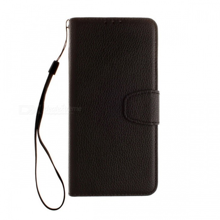 Dayspirit Lichee Pattern Leather Case for Sony Xperia XZ - BlackLeather Cases<br>Form  ColorBlackModelN/AMaterialPU leatherQuantity1 pieceShade Of ColorBlackCompatible ModelsSony Xperia XZFeaturesAnti-slip,Dust-proof,Abrasion resistance,Holder functionPacking List1 x Case1 x Lanyard<br>