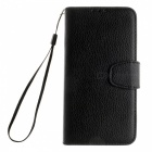 Dayspirit Lichee Pattern Leather Case for Sony Xperia XA - Black