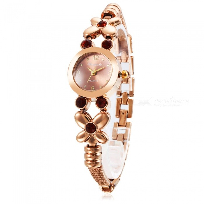 Chaoyada 1124 Rhinestone Bracelet Womens Elegant Quartz WatchWomens Bracelet Watches<br>Form  ColorChampagne GoldModel1124Quantity1 pieceShade Of ColorGoldCasing MaterialElectroplating steelWristband MaterialElectroplating steelSuitable forAdultsGenderWomenStyleWrist WatchTypeFashion watchesDisplayAnalogDisplay Format12 hour formatMovementQuartzWater ResistantFor daily wear. Suitable for everyday use. Wearable while water is being splashed but not under any pressure.Dial Diameter2.4 cmDial Thickness0.9 cmBand Width0.9 cmWristband Length20 cmBattery1 x LR626 battery (included)Packing List1 x Watch<br>