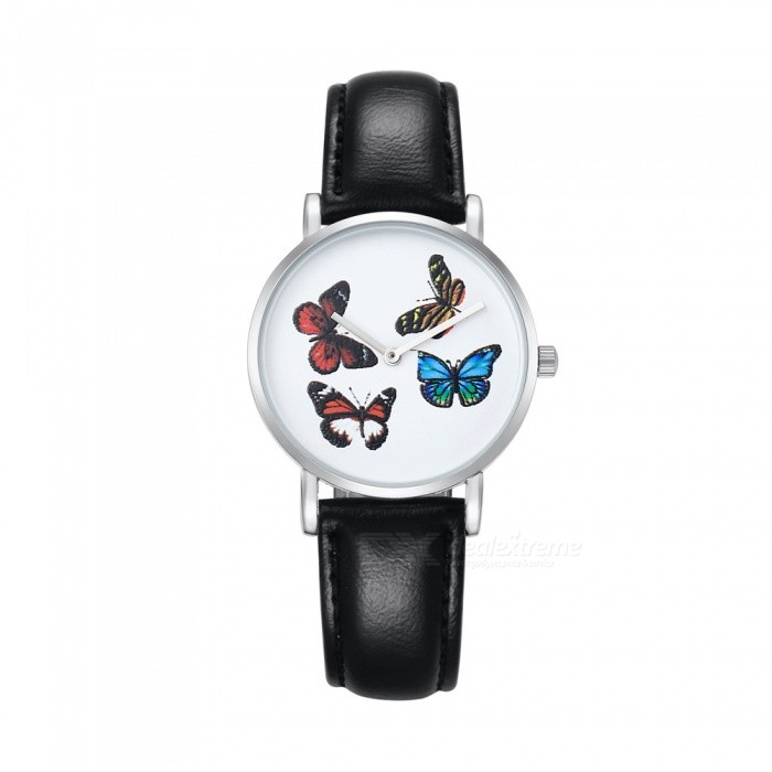 CAGARNY 6812 Women s Butterfly Pattern Quartz Watch - Black ... cd2a90a6db