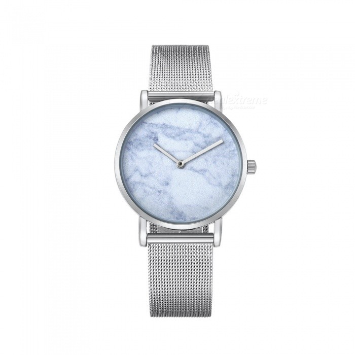 CAGARNY 6812 Womens Marble Pattern Quartz Watch - Silver, BlueQuartz Watches<br>Form  ColorSilver + Light BlueModel6812Quantity1 DX.PCM.Model.AttributeModel.UnitShade Of ColorSilverCasing MaterialAlloy + IP platedWristband MaterialStainless steelSuitable forAdultsGenderWomenStyleWrist WatchTypeFashion watchesDisplayAnalogBacklightNoMovementQuartzDisplay Format12 hour formatWater ResistantFor daily wear. Suitable for everyday use. Wearable while water is being splashed but not under any pressure.Dial Diameter3.6 DX.PCM.Model.AttributeModel.UnitDial Thickness0.8 DX.PCM.Model.AttributeModel.UnitWristband Length25.5 DX.PCM.Model.AttributeModel.UnitBand Width1.8 DX.PCM.Model.AttributeModel.UnitBatterysr626sw/1pcPacking List1 x Watch<br>