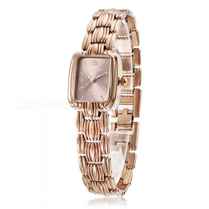 Chaoyada 1129 Womens Elegant Bracelet Quartz Watch - Champaign GoldWomens Bracelet Watches<br>Form  ColorChampagne GoldModel1129Quantity1 DX.PCM.Model.AttributeModel.UnitShade Of ColorGoldCasing MaterialElectroplating steelWristband MaterialElectroplating steelSuitable forAdultsGenderWomenStyleWrist WatchTypeFashion watchesDisplayAnalogDisplay Format12 hour formatMovementQuartzWater ResistantFor daily wear. Suitable for everyday use. Wearable while water is being splashed but not under any pressure.Dial Diameter2.2 DX.PCM.Model.AttributeModel.UnitDial Thickness0.8 DX.PCM.Model.AttributeModel.UnitBand Width1.3 DX.PCM.Model.AttributeModel.UnitWristband Length19.4 DX.PCM.Model.AttributeModel.UnitBattery1 x LR626 battery (included)Packing List1 x Watch<br>