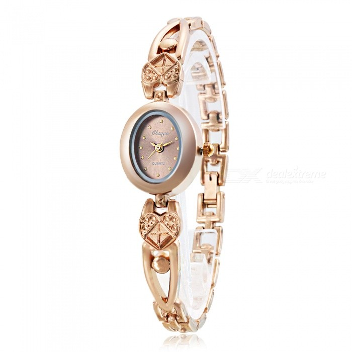 Chaoyada 1131 Womens Elegant Bracelet Quartz Watch - Champaign GoldWomens Bracelet Watches<br>Form  ColorChampagne GoldModel1131Quantity1 pieceShade Of ColorGoldCasing MaterialElectroplating steelWristband MaterialElectroplating steelSuitable forAdultsGenderWomenStyleWrist WatchTypeFashion watchesDisplayAnalogDisplay Format12 hour formatMovementQuartzWater ResistantFor daily wear. Suitable for everyday use. Wearable while water is being splashed but not under any pressure.Dial Diameter2.2 cmDial Thickness0.8 cmBand Width0.7 cmWristband Length20 cmBattery1 x LR626 battery (included)Packing List1 x Watch<br>