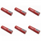 ZHAOYAO 6Pcs 3.7V 3000mAh Red 18650 Li-ion Batteries with US Charger