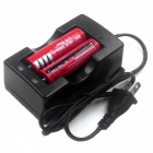ZHAOYAO 8Pcs 3.7V 3000mAh Red 18650 Li-ion Batteries with US Charger