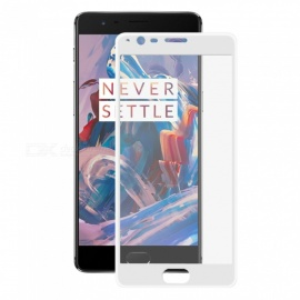 Hat-Prince 3D 0.2mm Full Screen Protector for OnePlus 3, 3T - White