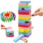 Wooden Extra Bausteine Tower Educational Jenga Spielzeug-Multicolor