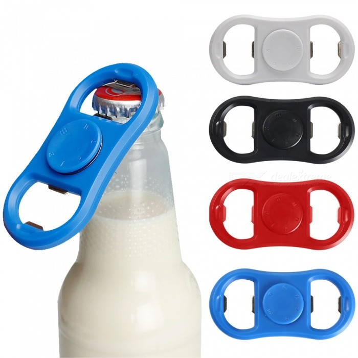 Maikou Beer Bottle Opener Stress Release Fidget Spinner (4PCS)Finger Toys<br>Form  ColorWhite + Black + Multi-ColoredModelNoMaterialABSQuantity4 DX.PCM.Model.AttributeModel.UnitSuitable Age 8-11 years,12-15 yearsPacking List4 * Spinners<br>