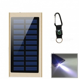 """20000mAh"" Super Slim Solar Power Bank + Compass - Golden"