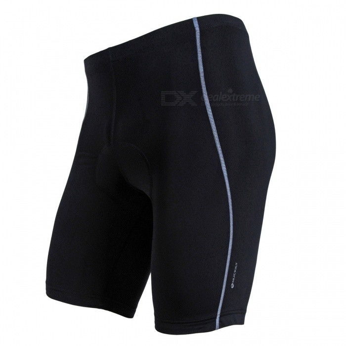 NUCKILY Unisex Breathable Lycra Cycling Riding Shorts - Silver Line XLCycle Clothing<br>Form  ColorBlack + Silver WhiteSizeXLModelNS352Quantity1 pieceMaterialLycra fabricGenderUnisexSeasonsSpring and SummerShoulder Width0 cmChest Girth0 cmSleeve Length0 cmTotal Length0 cmWaist72 cmHip Girth0 cmTotal Length48 cmThigh Girth0 cmCrotch Length25 cmLength Of Hem44 cmSuitable for Height173-178 cmBest UseCycling,Mountain Cycling,Recreational Cycling,Road Cycling,Triathlon,Bike commuting &amp; touringSuitable forAdultsTypeShort PantsPacking List1 x Shorts<br>