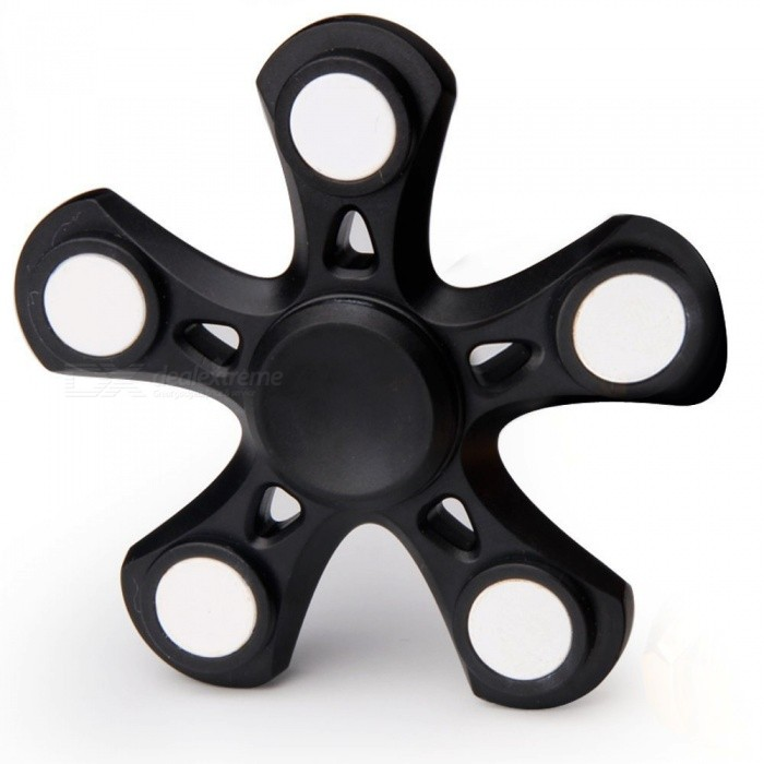 Pentagon Shaped Stress Relief Hand Finger Fidget Spinner - BlackFinger Toys<br>Form  ColorBlack + WhiteMaterialMetalQuantity1 pieceSuitable Age 5-7 years,8-11 years,12-15 years,Grown upsPacking List1 x Fidget Spinner<br>