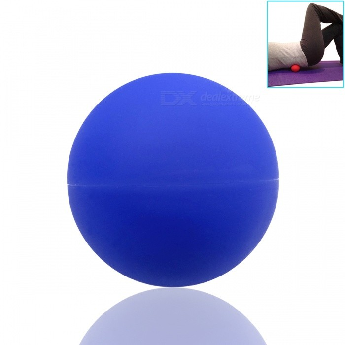 Massage Lacrosse Balls for Myofascial Release Trigger Point TherapyFitness Equipment<br>Form  ColorBlueQuantity1 pieceMaterialSolid RubberPacking List1 x Ball<br>