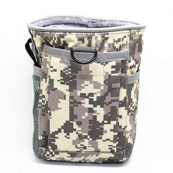 Small Trash Nylon Bag, Molle Tactical Sports Bag - ACU CamouflageGun Holsters<br>Form  ColorACUQuantity1 pieceMaterialNylonSizeSPacking List1 x Pouch<br>