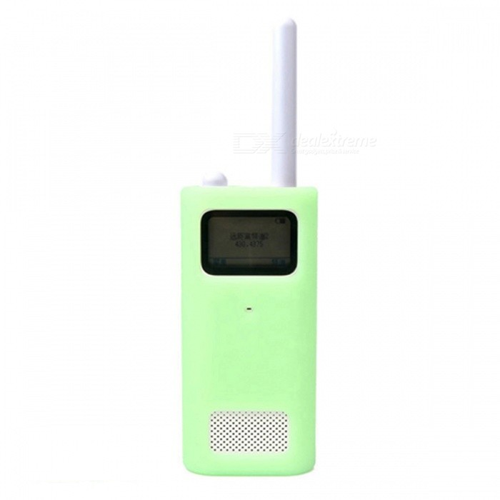 LOPBEN Xiaomi Mijia Walkie Talkie Silicone Protective Cover - GreenWalkie Talkies Supplies<br>Form  ColorGreenQuantity1 DX.PCM.Model.AttributeModel.UnitMaterialSilica gelCompatible BrandxiaomiCompatible ModelWalkie - talkiePacking List1 x Protective case<br>