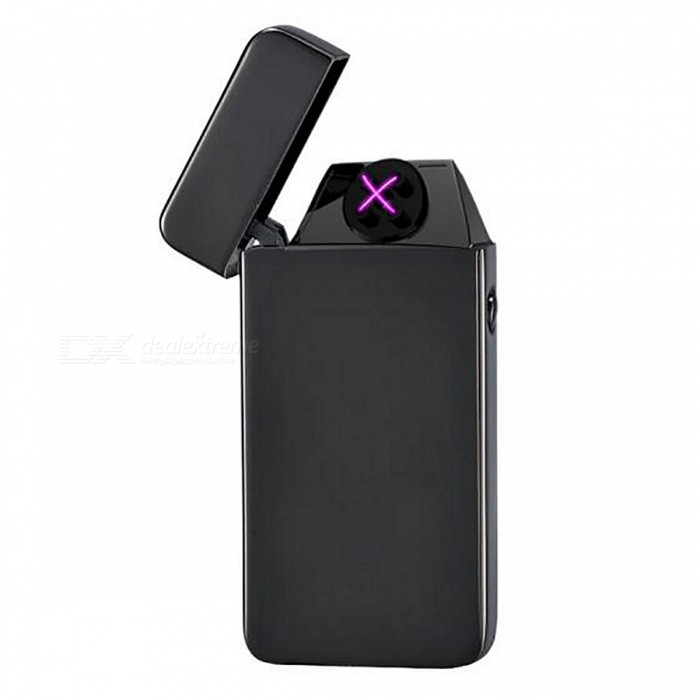 ZHAOYAO Windproof USB Charging Double Arc Pulse Cigarette LighterOther Lighters<br>Form  ColorBlackMaterial1Quantity1 DX.PCM.Model.AttributeModel.UnitShade Of ColorBlackTypeUSBPower SupplyLithium batteryCharging Time2 DX.PCM.Model.AttributeModel.UnitPacking List1 x Lighter<br>