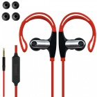 Adjustable Ear-hook Stereo 3.5mm Wired Sports Earphone - Red