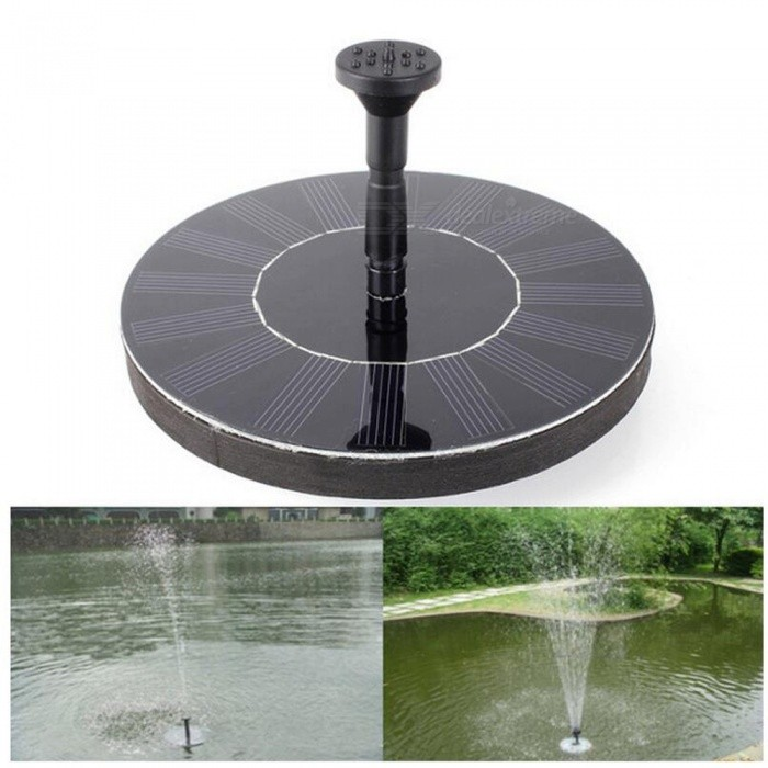 P-TOP IP65 Waterproof Portable Solar Floating Fountain PumpSolar Lamps<br>Form  ColorBlackMaterialABSQuantity1 DX.PCM.Model.AttributeModel.UnitWaterproof LevelIP65Power1.4 DX.PCM.Model.AttributeModel.UnitWorking Voltage   7 DX.PCM.Model.AttributeModel.UnitPacking List1 x Solar Fountain Pump<br>