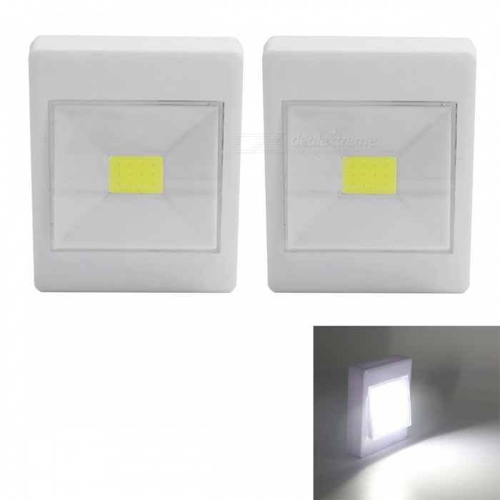 JRLED 2W COB Cold White LED Wall Bedside Lamps (2 PCS)LED Nightlights<br>Form  ColorWhiteModelN/AMaterialPC + LEDQuantity2 DX.PCM.Model.AttributeModel.UnitPower2WRated VoltageOthers,6 DX.PCM.Model.AttributeModel.UnitConnector TypeOthers,Install the batteryColor BINCold WhiteChip BrandEpistarChip TypeCOBEmitter TypeCOBTotal Emitters12Theoretical Lumens200 DX.PCM.Model.AttributeModel.UnitActual Lumens180 DX.PCM.Model.AttributeModel.UnitColor Temperature6500KDimmableNoBeam Angle120 DX.PCM.Model.AttributeModel.UnitColor Temperature6500KInstallation TypeOthers,Double faced adhesive tapeWavelengthN/ACertificationCE ROHSPacking List2 x Night Lights (without Battery)<br>