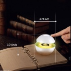 Portable Ball Shape Touch Bluetooth-högtalare med LED-ljus - Vit