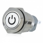 12V 16mm Metal Self-locking Button Switch with Red Indicator Light