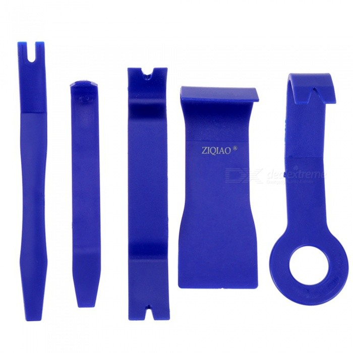 ZIQIAO Car Radio Dash Audio Removal Pry Tool (5Pcs/Set) - BlueAudio Accessories<br>Form  ColorBlueModelCZGJ-009Quantity1 setMaterialPPFunctionProfessional car tuning Kit applicable to navigation, lights, Horn, footlights, audio, such as door handles installation and alteration.Packing List1 x Set of pry tools<br>