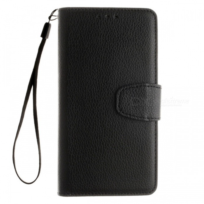 Dayspirit Lichee Pattern Leather Case for Huawei P9 - BlackLeather Cases<br>Form  ColorBlackModelN/AMaterialPU leatherQuantity1 pieceShade Of ColorBlackCompatible ModelsHuawei P9FeaturesAnti-slip,Dust-proof,Abrasion resistance,Holder functionPacking List1 x Case1 x Lanyard<br>