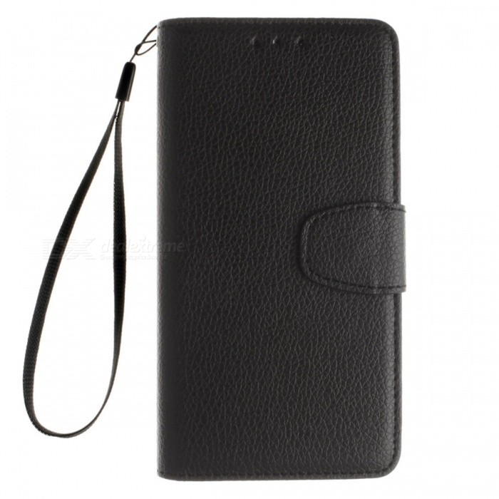 Dayspirit Lichee Pattern Leather Case for Huawei P8 Lite - BlackLeather Cases<br>Form  ColorBlackModelN/AMaterialPU leatherQuantity1 pieceShade Of ColorBlackCompatible ModelsHuawei P8 LiteFeaturesAnti-slip,Dust-proof,Abrasion resistance,Holder functionPacking List1 x Case1 x Lanyard<br>