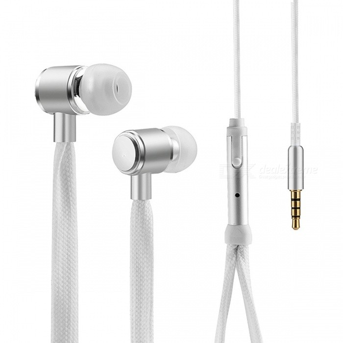 Cool Shoelaces Style Earphone with Micrphone - White - Free Shipping -  DealExtreme bcaf732ff4c86