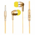 SMN-10 Stylish In-Ear Earphones with Phone Call Button - Golden