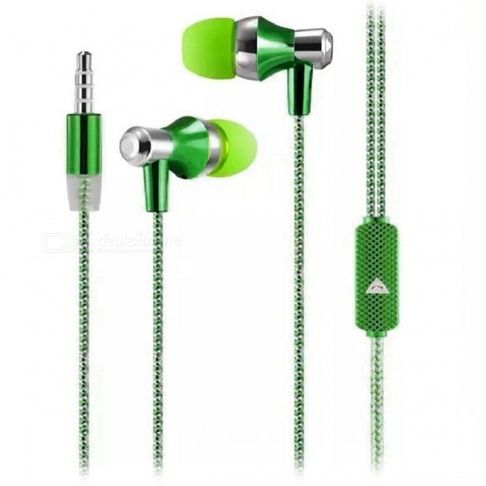 Stylish In-Ear Earphones w/ Microphone / Phone Call Button - GreenHeadphones<br>Form  ColorGreenBrandOthers,N/AMaterialPlastic + alloyQuantity1 pieceConnection3.5mm WiredBluetooth VersionNoConnects Two Phones SimultaneouslyNoCable Length110 cmLeft &amp; Right Calbes TypeEqual LengthHeadphone StyleIn-EarWaterproof LevelIPX2Applicable ProductsUniversalHeadphone FeaturesHiFiRadio TunerNoSupport Memory CardNoSupport Apt-XNoChannels2.0Packing List1 x Earphone<br>